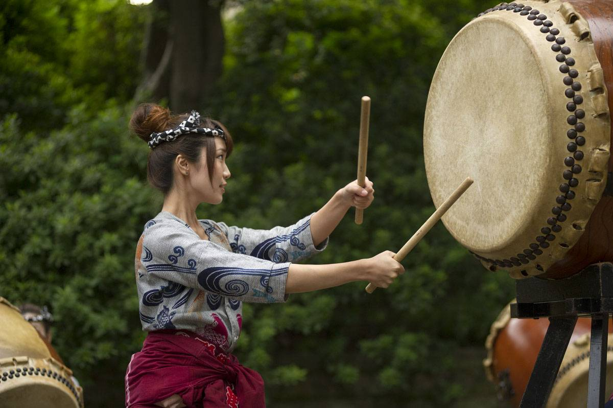 Nezu Shrine Festival Taiko Drummers